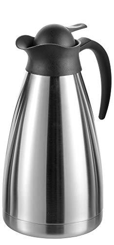 Esmeyer Thermoart - Caraffa Termica THERMOART, Contenuto: 1,5 Litri, Altezza: 280 mm, con Acciaio Inox infrangibile ed è Facile da Usare con Una Sola Mano