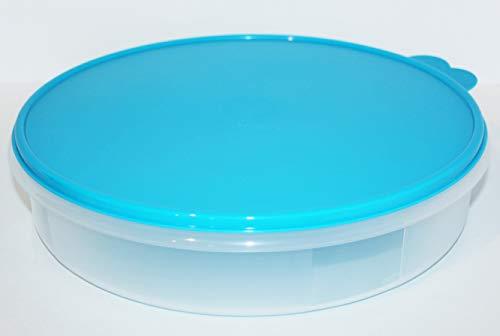 Tupperware 12' Pie Round Keeper Cake Taker Aqua Blue