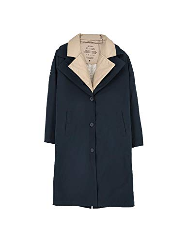 ECOALF ISOLA Detachable Woman Trench, Marineblau(DeepNavy (161)), Gr. S