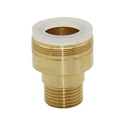 Conector de irrigación de jardín Hombre 3/4 a1 / 2 Conector de grifo femenino Adaptador de latón G3 / 4 Reducción de la junta G1 / 2 accesorios de lavadora 10 PCS