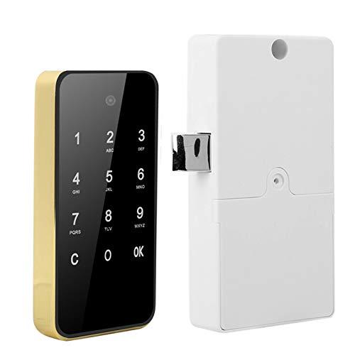 Verrou électronique RFID Lock Anti-Voyeur Password Unlock 5,0 x 2,5 Pouces, pour piscines, pour saunas(Golden)
