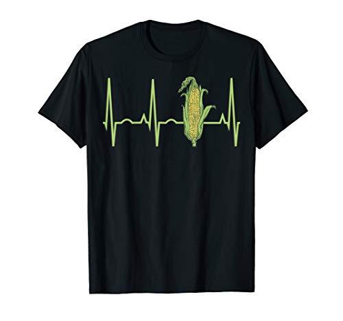 Corn Heartbeat Shirt - Best T-Shirt for Corn Farmers