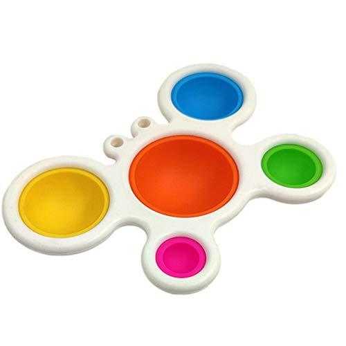 Ishine Dimple Toy Interesante Juguetes Sensoriales Fidget Simple Dimple Toy Regalos para la Junta de Entrenamiento Infantil Concentración de Color de Desarrollo Temprano, para edades de 1 a 2