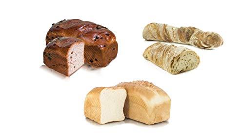 Vestakorn Handwerksbrot, Brot Selektion - frisches Brot - 2 Weizen- & 1 Rosinenbrot vom Handwerksbäcker zum selbst aufbacken in 10 Minuten