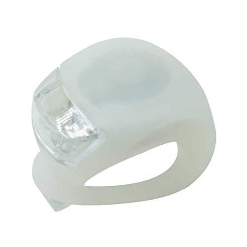 FSHB Mini Radsport Sicherheitswarnung Fahrradlampe Fahrrad Frontlicht Silikon LED Kopf Vorderrad Hinterrad Fahrrad Licht Wasserdicht, Weiß