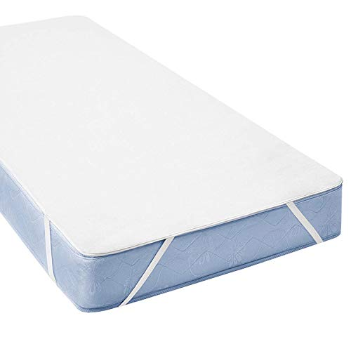 BONVELLI Coprimaterasso in Spugna di Cotone Impermeabile (70 x 140cm (Toddler Bed))