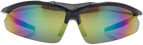 YAYY Gafas de Sol Deportivas sin Marco con Estilo Simples con 5 Piezas de Lentes Intercambiables para Hombres Mujeres Gafas de Sol con protección UV Gafas de Sol de Moda(Upgrade)