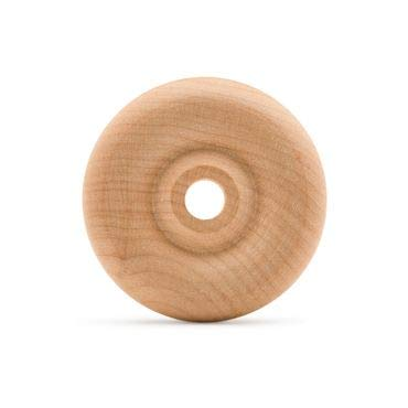 Classic Wooden Toy Wheels and Axles, Great for Crafts Too, 2 Inch Diameter, 5/8 Inch Thick, 1/4 Inch Hole, Pack of 24, by Woodpeckers
