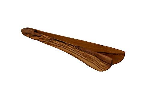 Pinza per barbecue e cucina in vero legno d'ulivo, 30 cm