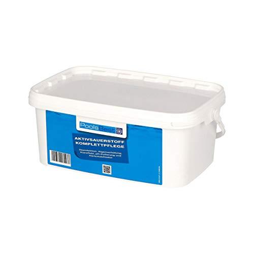 POOLSBEST® 2,24 kg Aktivsauerstoff für Pool - 8 Doppelbeutel mit chlorfreien Granulat - Desinfektion ohne Chlor sorgt für geruchlose Wasserqualität