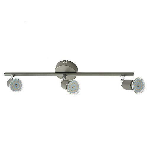 LED-Strahler-Spot LINOS 3-flammig titan LED-Decken-Leuchte-Lampe LED-Wand-Leuchte-Lampe Spotleuchte Spotbalken inklusive LED-Leuchtmittel 7Watt x 3