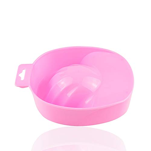 Ruluti Aceton Resistent Soak Off Warm Nail voor Nagels Soak Off Bowl Manicure Nail Art Gel Remover Tool Hand Spa Bad Tray Roze