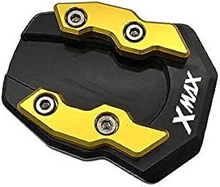 二輪車サイドスタンド引伸機 Y&amaha XMAX 400 XMAX 300 XMAX 250 XMAX 125 2020モーターサイクルCNCキックスタンドエクステンションサポートプレート用 ブラケットエキスパンダー (色 : K)