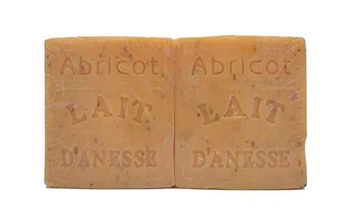 Savon au Lait d'Ânesse - parfum ABRICOT - Made in France (2x100g)