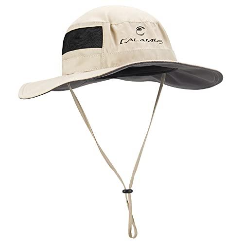 Sombrero para el sol Calamus UPF 50 Boonie - Sombrero de protección solar, sombrero de pesca, sombrero de caza, Gris, talla única