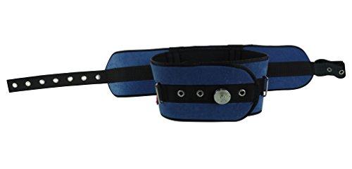 Ubio Cinturón abdominal acolchado, Cama 90 cm, Con cierre iron clip, Permite lateralización del paciente y boca arriba, Azul ⭐