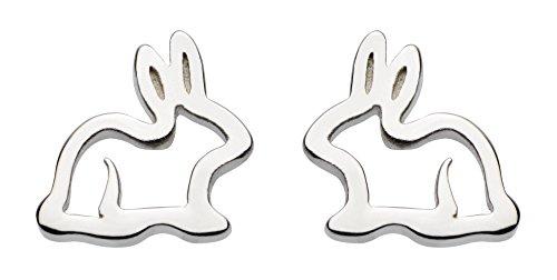 Dew Women's Sterling Silver Bunny Stud Earrings