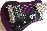 Hofner 6 String Shorty Electric Travel Guitar-Purple w/Gig Bag, Right Handed, (HCT-SH-PU-O)