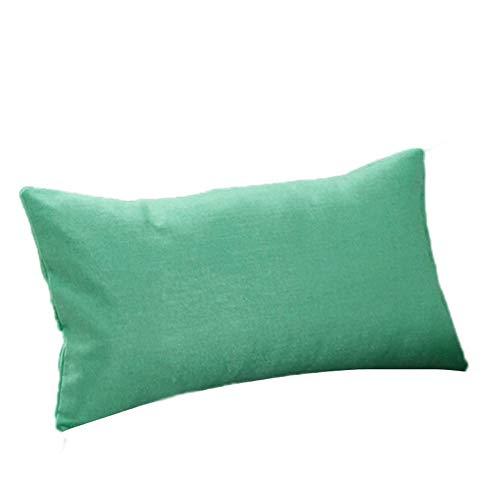 Reooly Funda de Almohada de Moda Simple Funda de cojín de sofá de cafetería decoración del hogar 30 * 50 cm