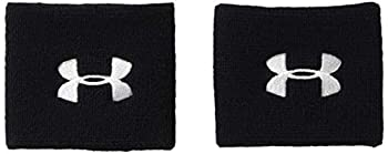 Under Armour Men s 3-inch Performance Wristband 2-Pack  Black  001 /White  One Size Fits All