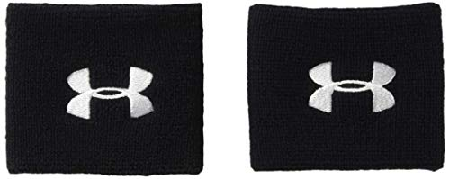 Under Armour UA Performance Wristbands, Polsini Unisex, Nero (Black/White 001), Taglia unica