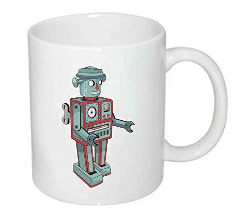 Druckerlebnis24 Tasse - Roboter Vintage Comic Figur - Kaffee-Tasse 330ml - Unisize aus Keramik - Tee