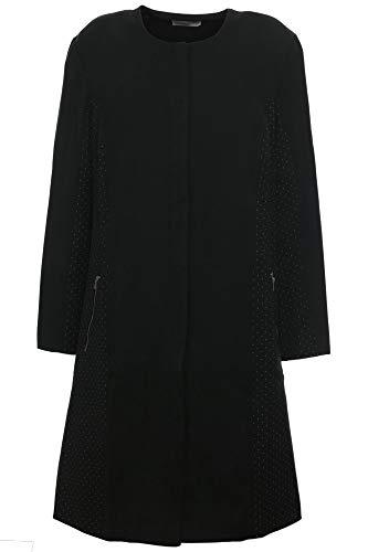 Sheego Kurzmantel Mantel Gehrock Jacke Damen Plusgröße Oversize, Farbe:schwarz, Damengrößen:48