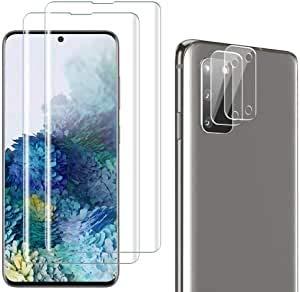 Boleyi Protector de Lente de Cámara para Samsung Galaxy S21, Lente de Cámara Trasera Protector de Vidrio Templado, 2.5d Borde Redondo Cámara Protector de Película (2 Pack)