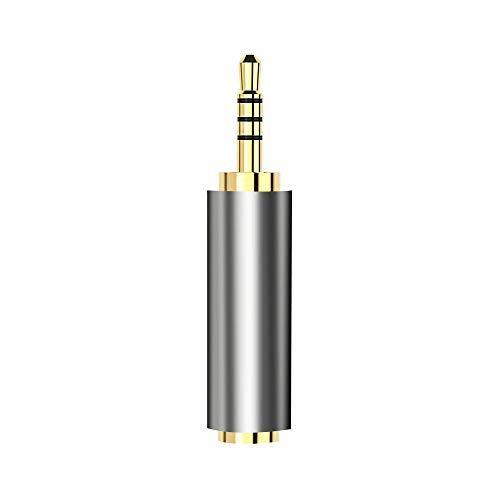 MMI-LX PWYANG - Adaptador de audio universal de 3,5 mm a 2,5 mm macho hembra para auriculares de cable de altavoz auxiliar (color de 2,5 mm macho a 3,5 mm)