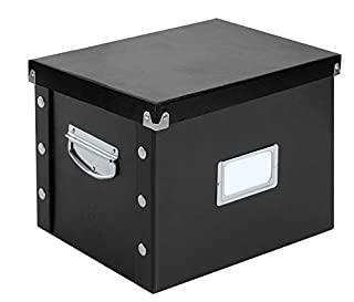 Snap-N-Store  Snap Together File Box, Letter , 9.75 Height x 10.75 Depth x 13.25 Width Inch, Glossy Black (SNS01533) (B0019TRAFE) | Amazon price tracker / tracking, Amazon price history charts, Amazon price watches, Amazon price drop alerts