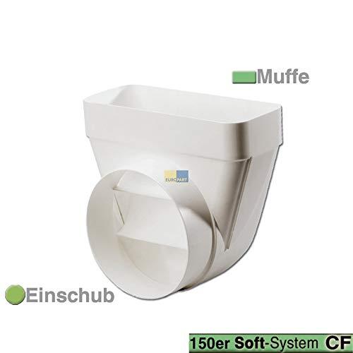 LUTH Premium Profi Parts Umlenkstück 150erSCF/R CompairFlow oval/rund Luftführungssystem Dunstabzugshaube Trockner