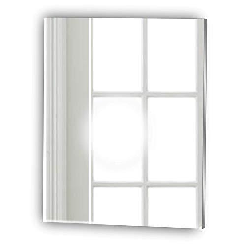 Frameless Rectangle Shaving Glass Look Acrylic Mirror