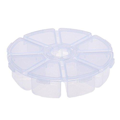 LONUPAZZ 8 Grilles BoîTe De Rangement Maquillage En Plastique Transparente Bureau (Blanc)