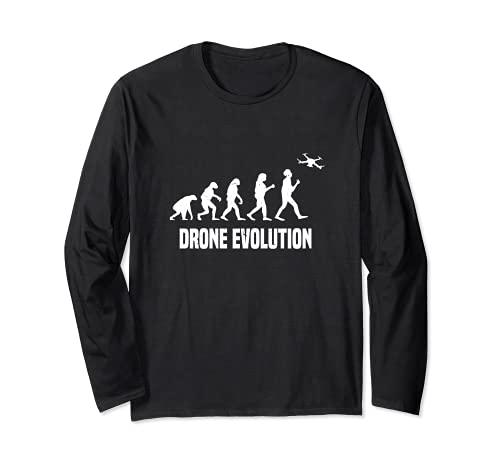 Drone Evolution   Ventilador de operador de drones con licencia profesional Manga Larga