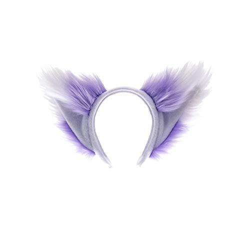 Pawstar Kawaii Furry Fox Ear Headband - Lavender