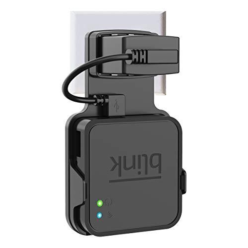 Cozycase Wandhalterung für Blink Sync Modul Halterung Schutzhülle Ständer Router Guard mit Ladekabel kompatibel Blink XT außenbereich und Innenbereich (Schwarz)