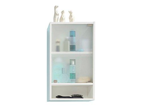 trendteam smart living Badezimmer Hängeschrank Wandschrank Denver, 39 x 66 x 21 cm in Weiß Melamin mit viel Stauraum und Ablagefläche