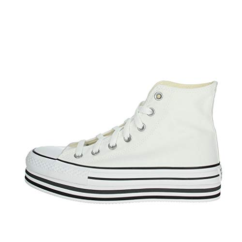 Converse Sneakers Ctas Platform Layer Hi Bianco (40 - Bianco)