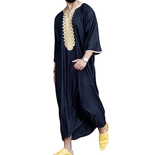 Vestido musulmán para Hombre Oriente Medio Arabia Saudita Batas Hombres Ropa de oración Estampado