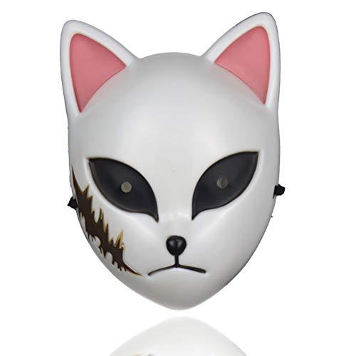 Fovor (2020 NEU) Halloween Requisiten Dekorationen, japanische Anime Demon Slayer Maske Cosplay Masken Halloween Party Kostüm Requisiten