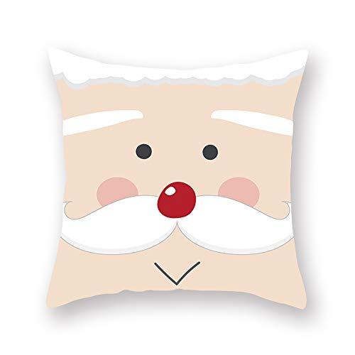 XINRJY Federa Stampata in 3D Babbo Natale Camera da Letto Dell'Hotel Soggiorno Fodera per Cuscino per Auto Morbido Ad Asciugatura Rapida Resistente allo Sporco