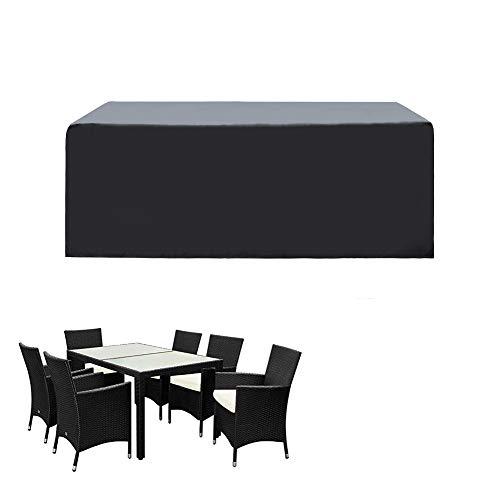 SIRUITON Funda de Muebles de Jardín Exterior Mesa de jardín y Silla Cubierta de Protección Impermeable Negro