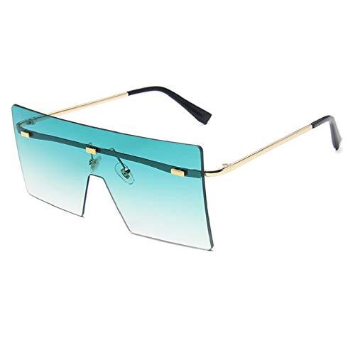 NBJSL Gafas De Sol Sin Marco De Moda Para Mujer, Gafas De Sol De Gran Tamaño Con Sombras Vintage (Caja De Embalaje Exquisita)