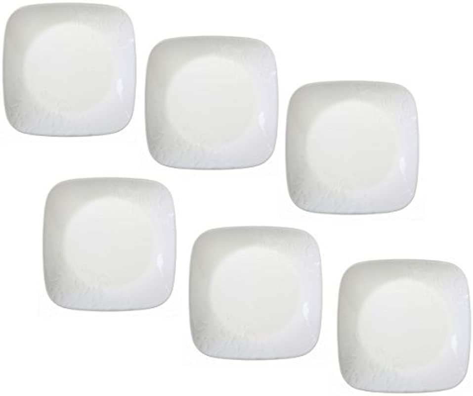 Corelle Boutique Cherish 6 5 Square Bread Or Desert Plate Set Of 6 By CORELLE