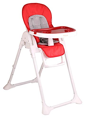 Little Pumpkin Classic High Chair for Babies 7 Levels Feeding High Chair   0 to 5 Years (Red)