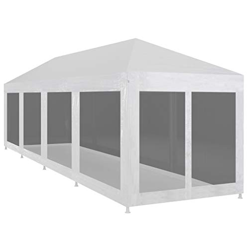 Tidyard Outdoor Party Tent 3x12 m Gazebo Garden Tent with 10 Mesh Sidewalls waterproof UV resistant 12x3 m