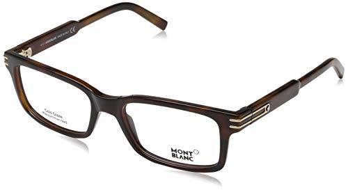 MONT BLANC MB0668-052-54-18-140 Mont Blanc Brillengestelle MB0668 052 -54 -18 -140 Rechteckig Brillengestelle 54, Braun