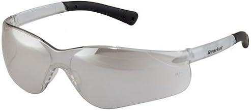 Crews BK319 BearKat 3 Polycarbonate Gray Lens Safety Glasses with Non-Slip Hybrid Black Temple Sleeve, 1 Pair