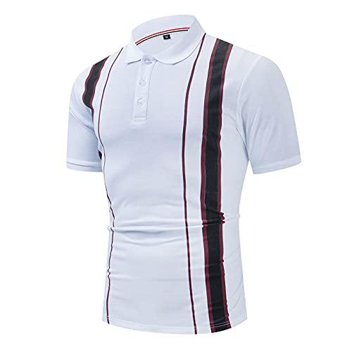 SSBZYES Camisetas De Verano para Hombres Camisetas De Manga Corta para Hombres Camisas De Polo De Moda para Hombres Camisas De Polo De Negocios con Solapa De Algodón Formal De Costura De Manga Corta