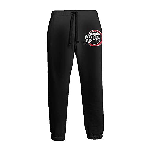Inaayayi Pantaloni della tuta casual da uomo pantaloni allentati pantaloni atletici pantaloni yoga, 6 Demone Slayer, 3XL
